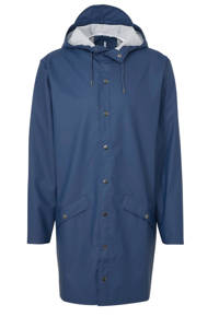Rains regenjas 1202 long jacket blauw, Blauw