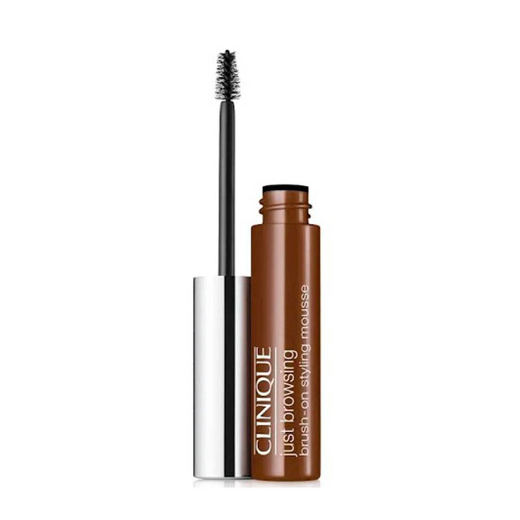 Clinique Brush-On Gel Styling Mousse wenkbrauwgel - 03 Deep Brown, 03 Deep brown