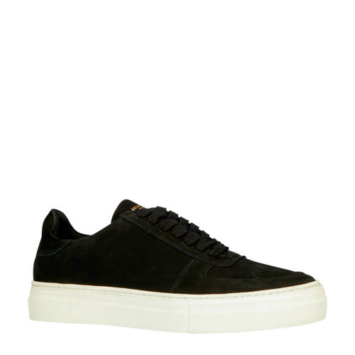 SELECTED HOMME nubuck sneakers zwart
