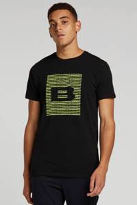 Ballin by Purewhite T-shirt met tekst  zwart/neon geel,  Zwart/neon geel