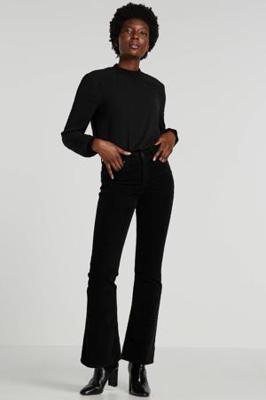 corduroy flared jeans Breese zwart
