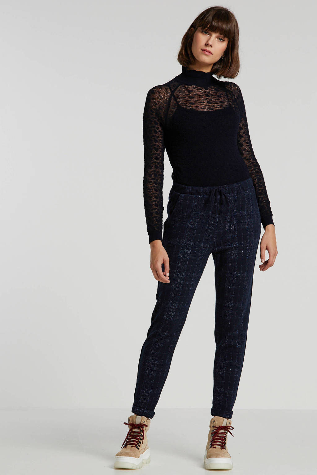 Petrol Industries blouse met stippen zwart, Zwart