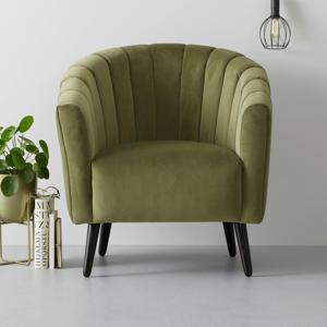 fauteuil Fleur velours