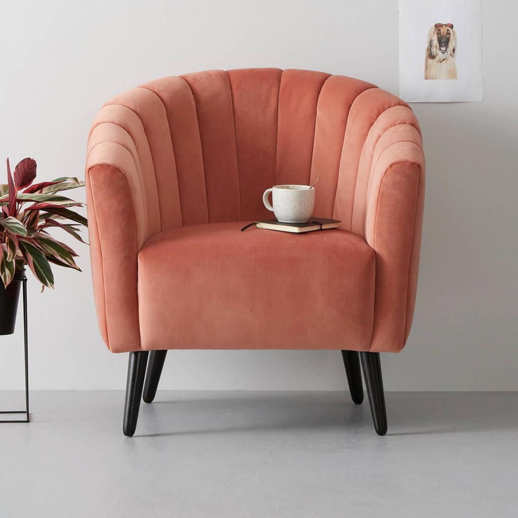 whkmp's own fauteuil Fleur velours, Roze
