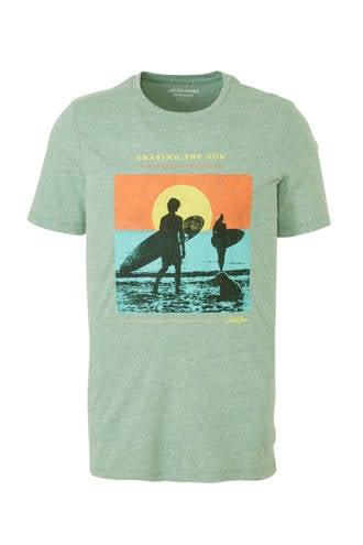 Originals gemêleerd T-shirt met printopdruk