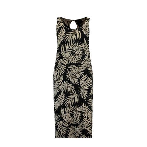 MS Mode jersey maxi jurk met glinterprint