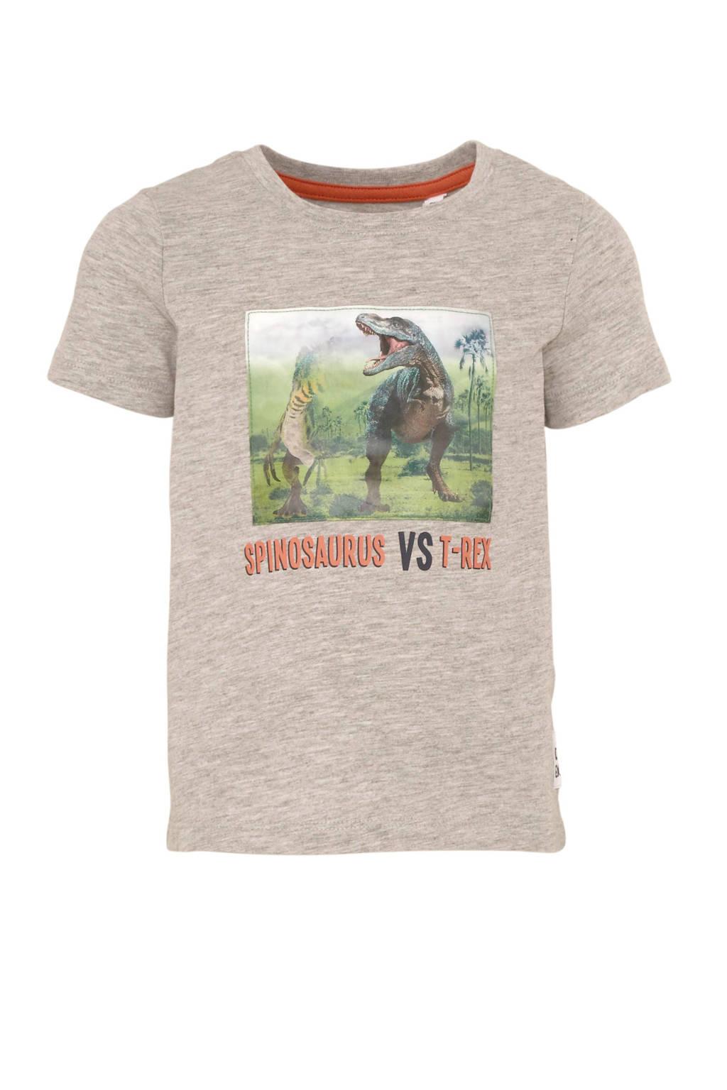 C&A Palomino T-shirt met printopdruk grijs melange, Grijs melange
