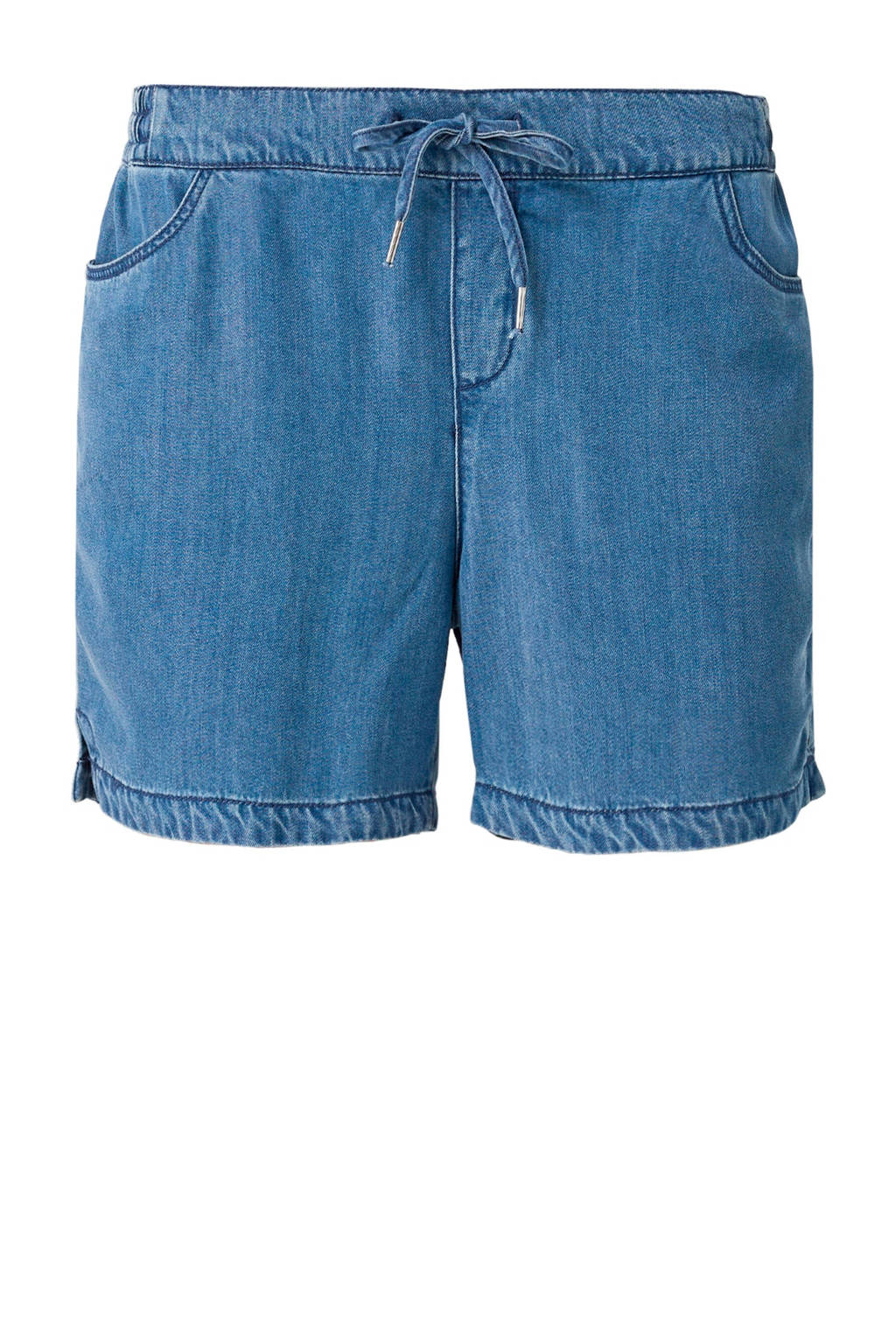 s.Oliver loose fit jeans short, Blauw