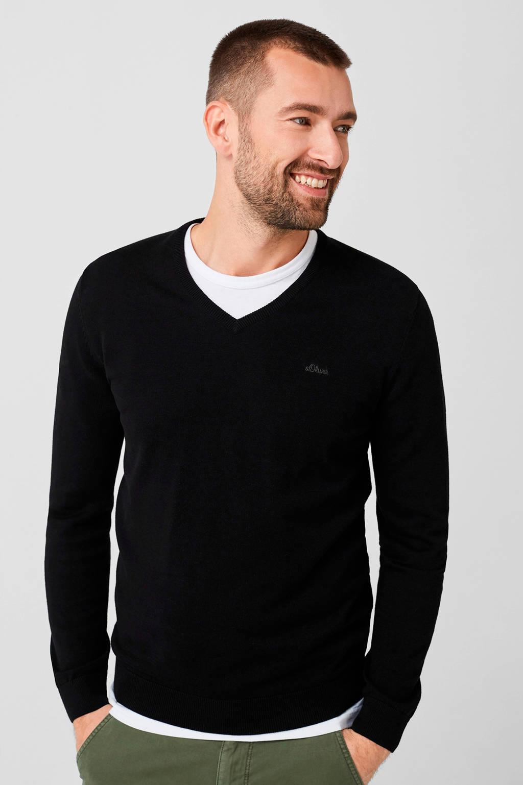 s.Oliver gemêleerde trui zwart, Zwart