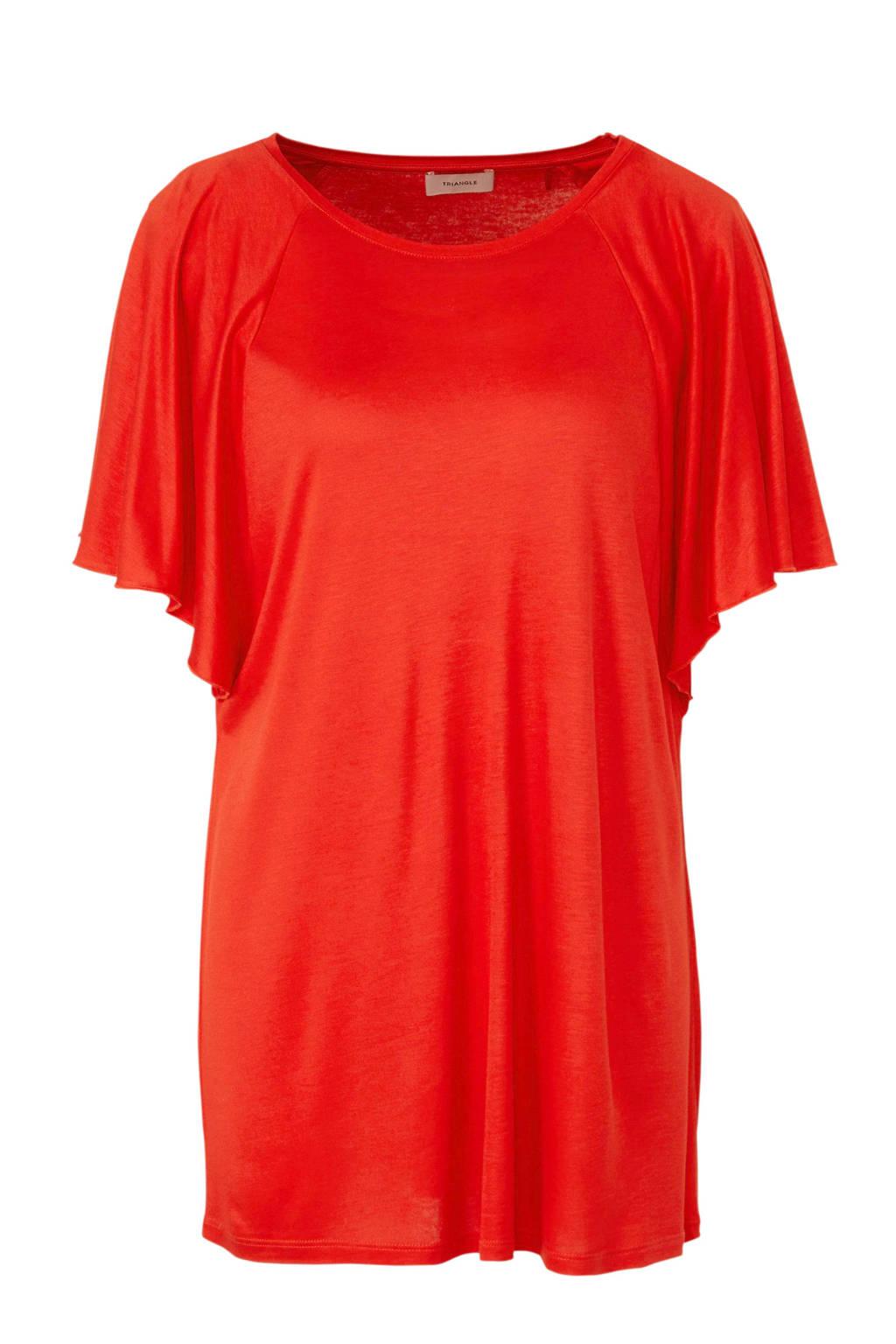TRIANGLE T-shirt rood, Rood
