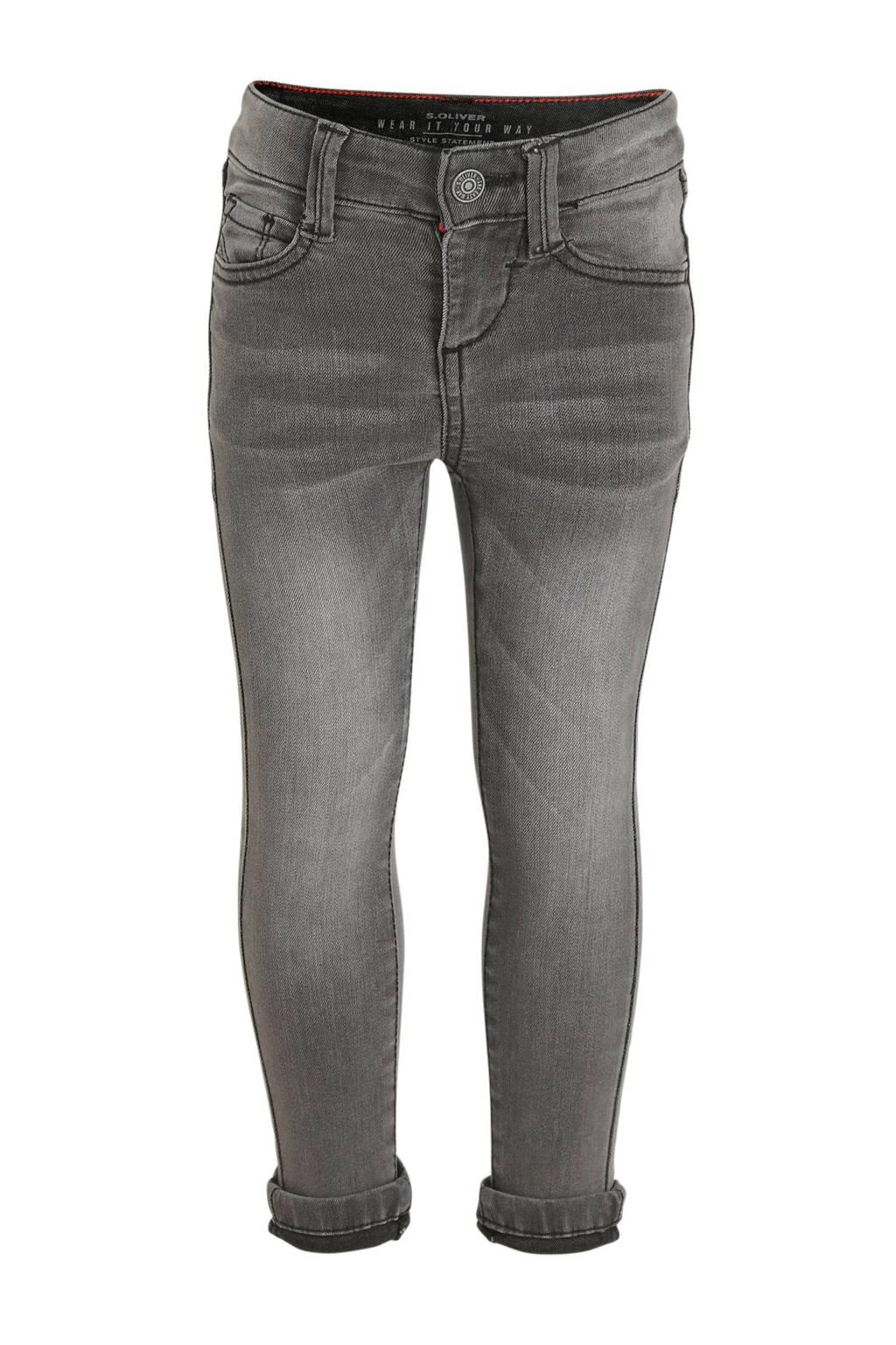 s.Oliver skinny jeans Brad grijs, Grijs