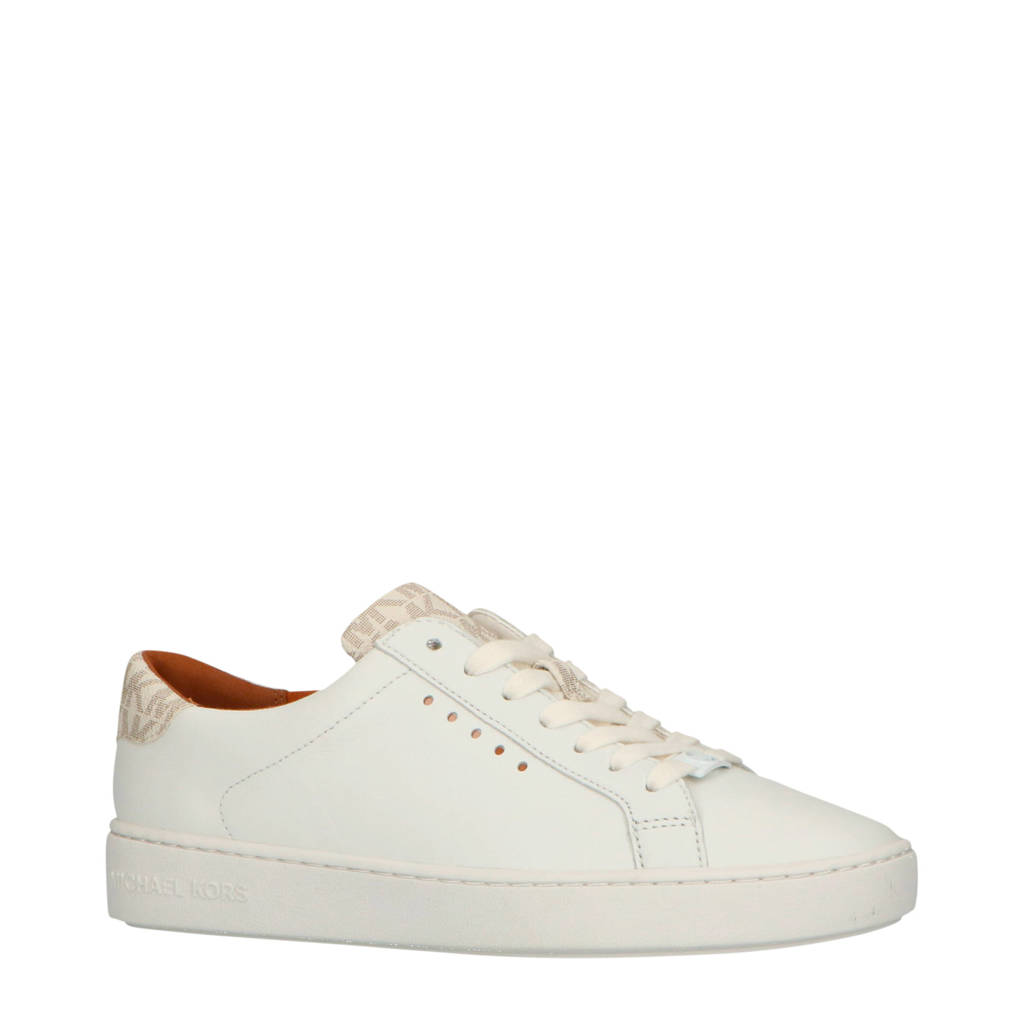 Michael Kors  Irving Lace Up leren sneakers wit, Wit