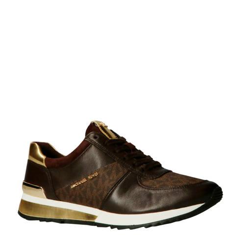 Michael Kors Allie Wrap Trainer leren sneakers bruin