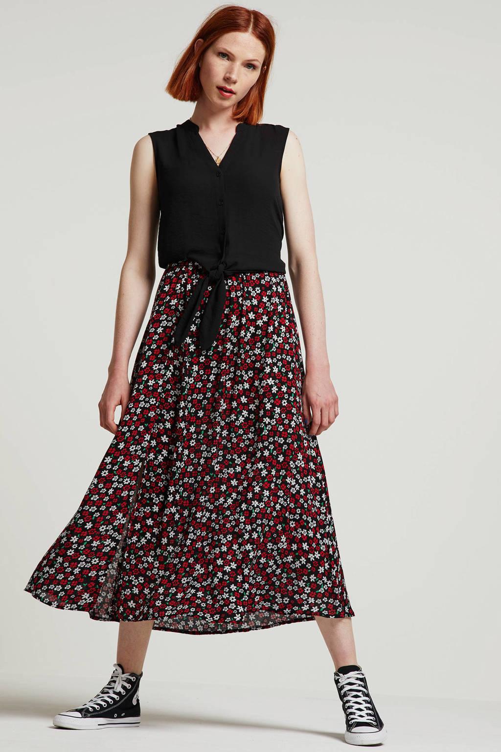 VERO MODA semi-transparante blouse zwart, Zwart