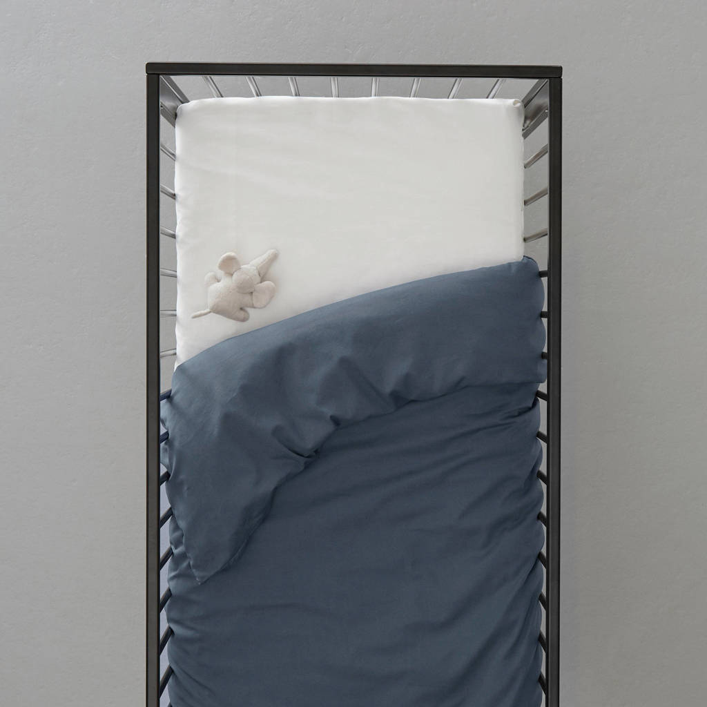 wehkamp home ledikant dekbedovertrek, Blauw, Baby (100 cm breed)