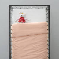wehkamp home ledikant dekbedovertrek, Lichtroze, Baby (100 cm breed)