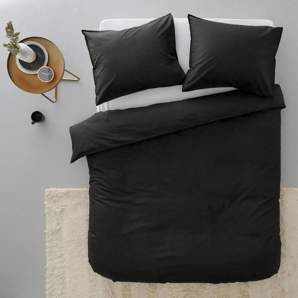 whkmp's own katoenen dekbedovertrek lits-jumeaux, Zwart, Lits-jumeaux (240 cm breed)