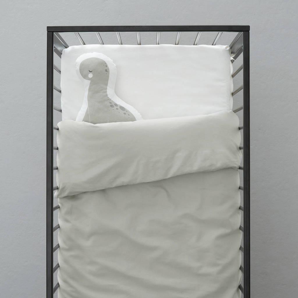 wehkamp home ledikant dekbedovertrek, Lichtgrijs, Baby (100 cm breed)