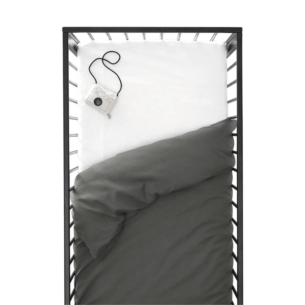 wehkamp home ledikant dekbedovertrek, Antraciet, Baby (100 cm breed)