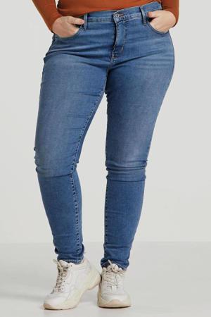 Plus skinny jeans blauw