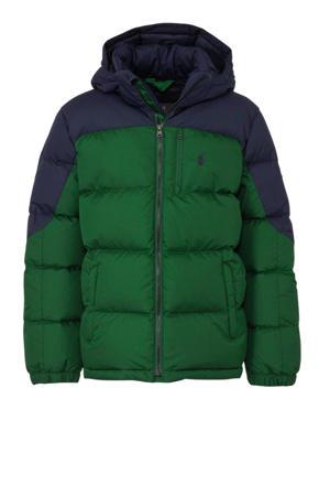 winterjas groen/donkerblauw