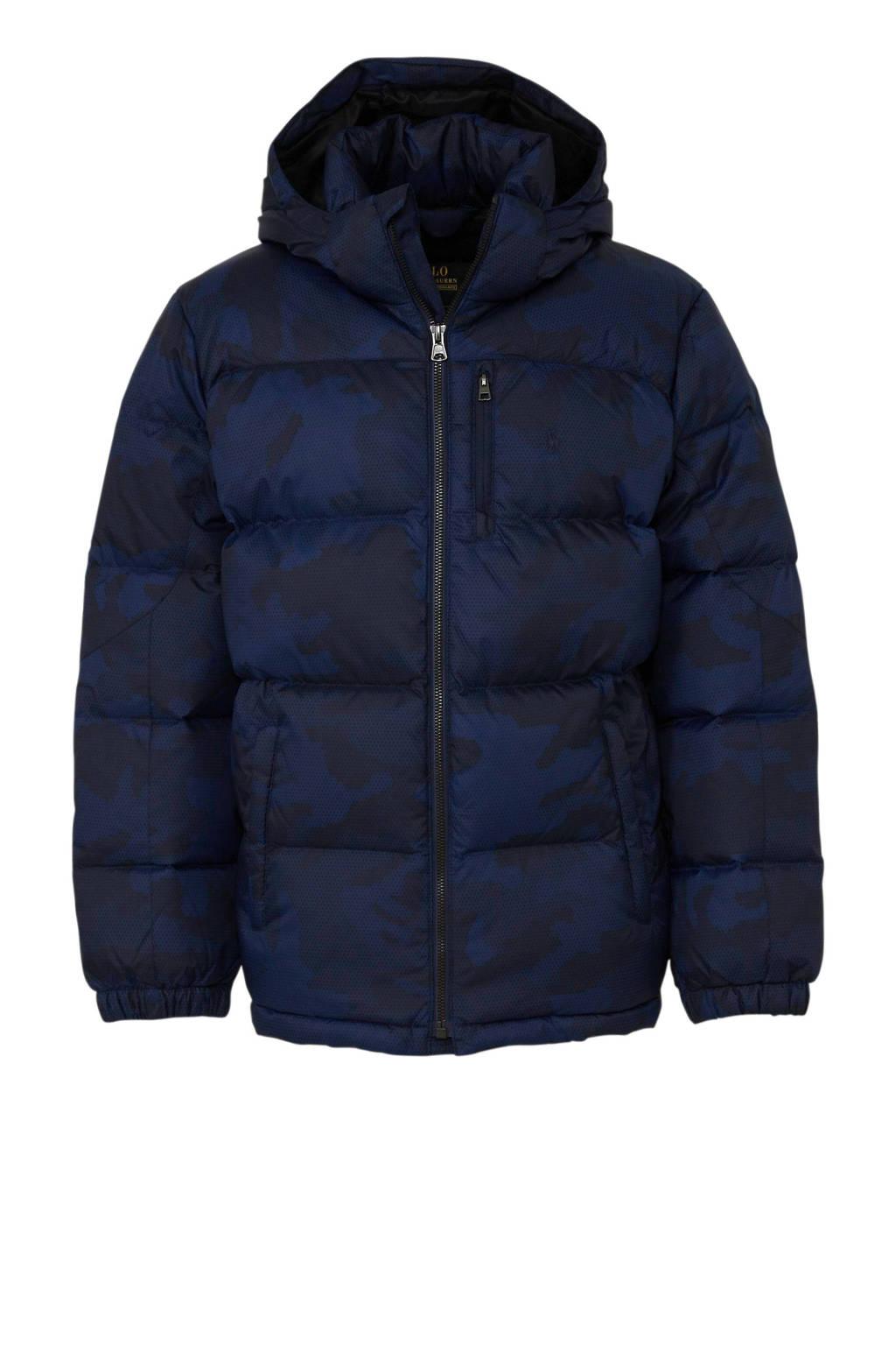 POLO Ralph Lauren winterjas met camouflageprint donkerblauw, Donkerblauw
