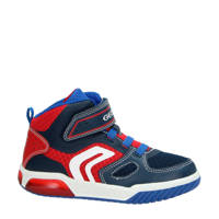 Geox  Gregg sneakers blauw/rood/wit, Blauw/rood/wit