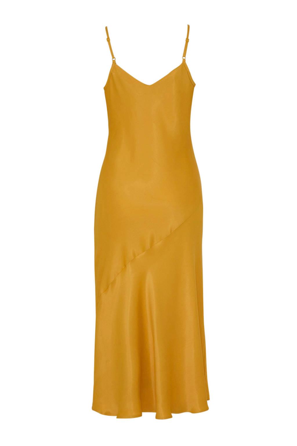 C&A Yessica satijnen jurk geel, Geel