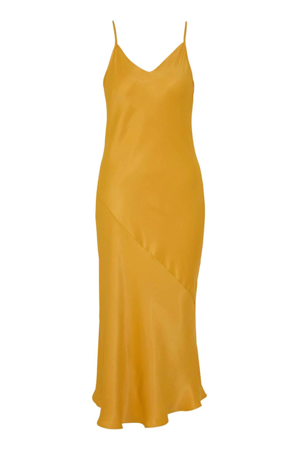 C&A Yessica satijnen spaghetti-jurk geel, Geel