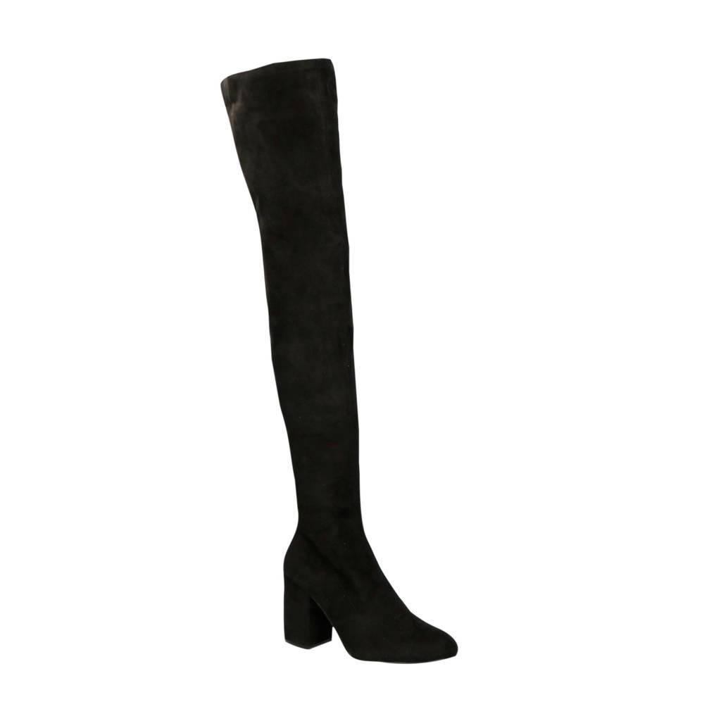 ONLY   overknee laarzen zwart, Zwart