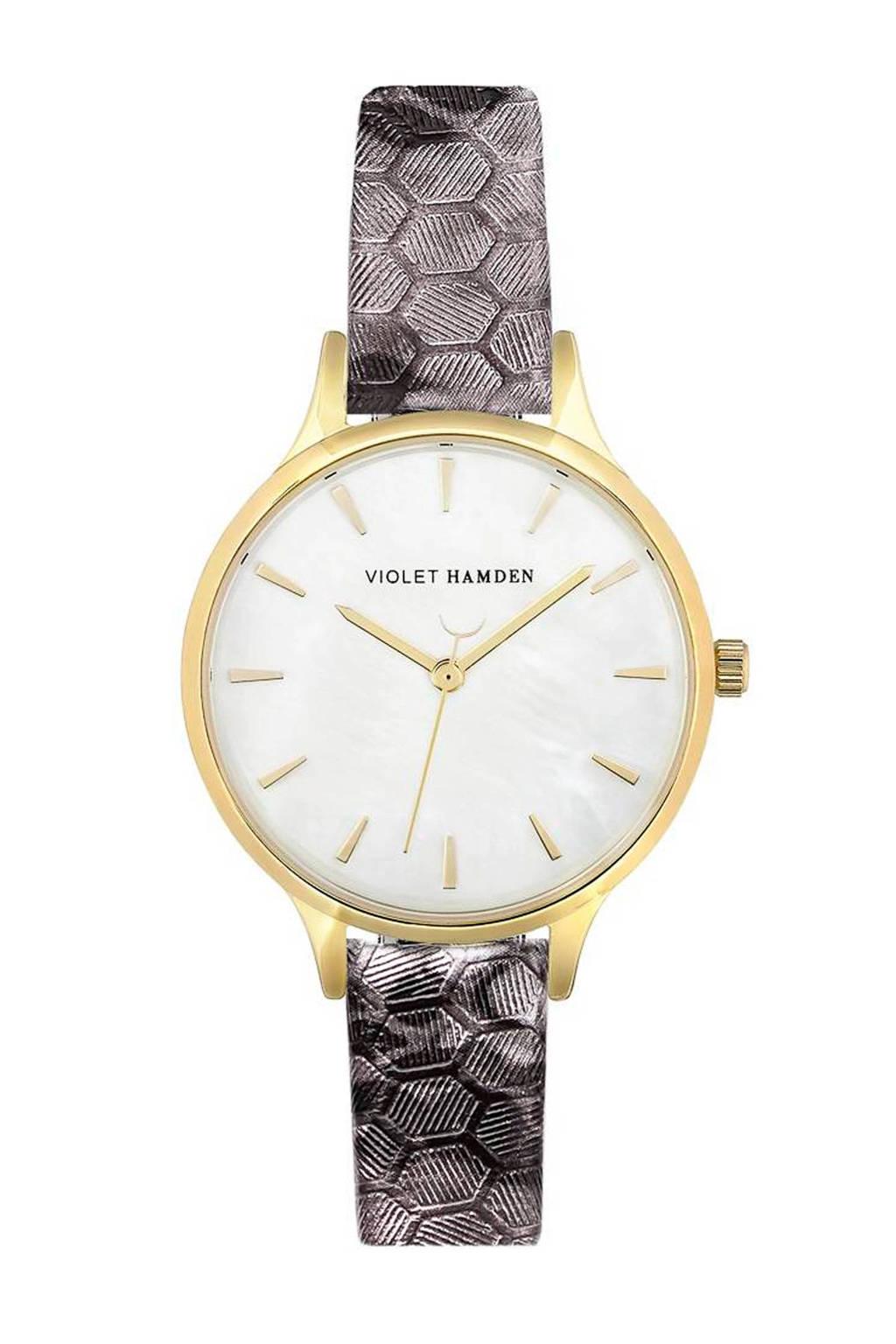 Violet Hamden horloge Day & Night Aurora VH01034, Zilverkleurig/zwart