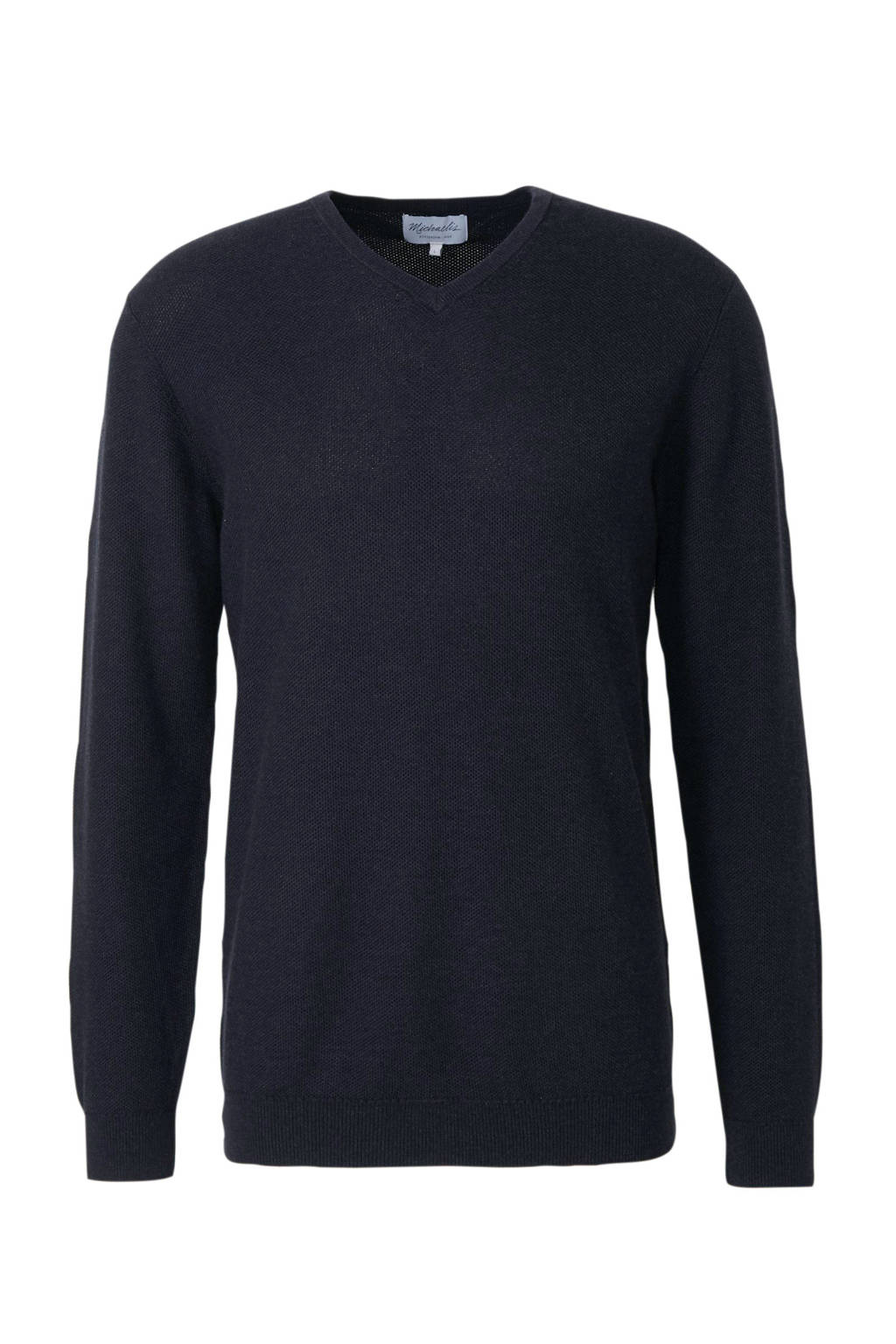 Michaelis fijngebreide trui donkerblauw, Donkerblauw