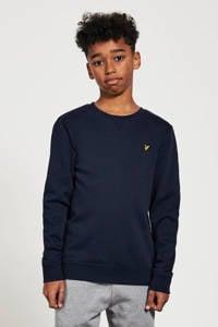 Lyle & Scott sweater met borduursels donkerblauw, Donkerblauw