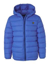 Lyle & Scott winterjas met borduursels blauw, Blauw