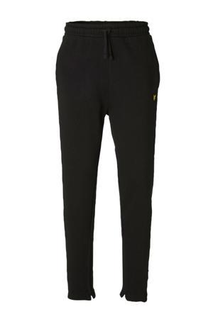 skinny joggingbroek met printopdruk en borduursels zwart/wit