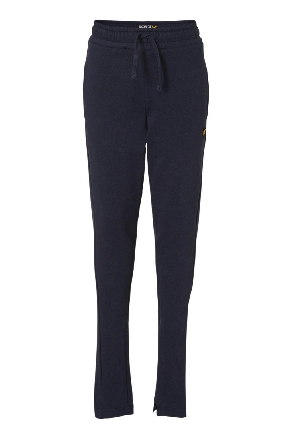 Lyle & Scott   skinny joggingbroek met logo donkerblauw, Donkerblauw