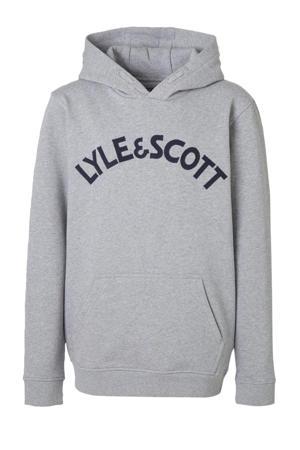gemêleerde hoodie grijs melange/donkerblauw