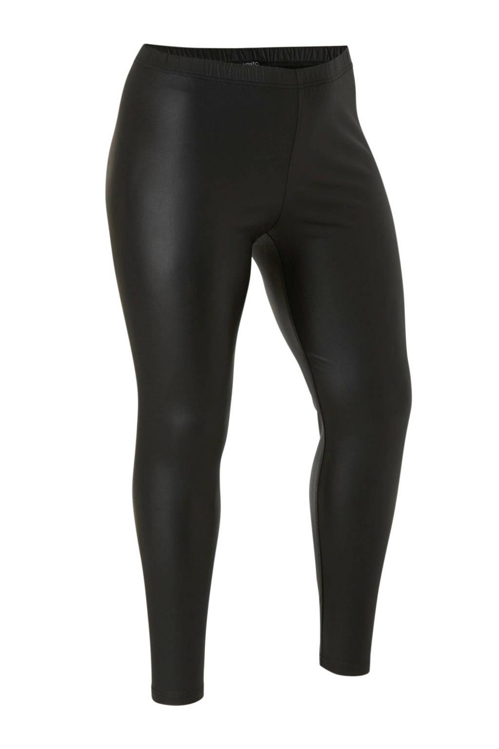 Yesta coated legging zwart, Zwart