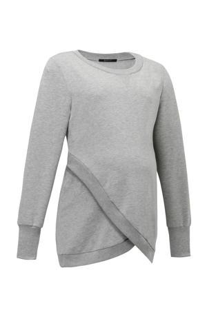 zwangerschapssweater grijs