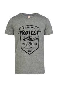 Protest T-shirt Everton JR met printopdruk grijs/zwart, Thyme