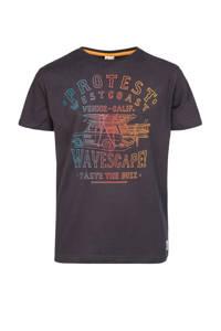 Protest T-shirt Briley JR met printopdruk donkerblauw/multi, Deep Grey
