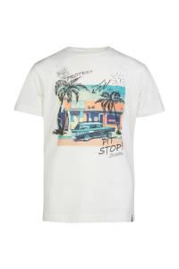 Protest T-shirt Bram met printopdruk wit, Seashell
