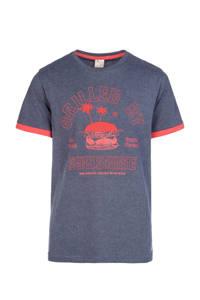 Protest T-shirt Kevlar met printopdruk blauw/rood, Ground Blue