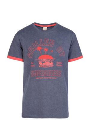 T-shirt Kevlar met printopdruk blauw/rood