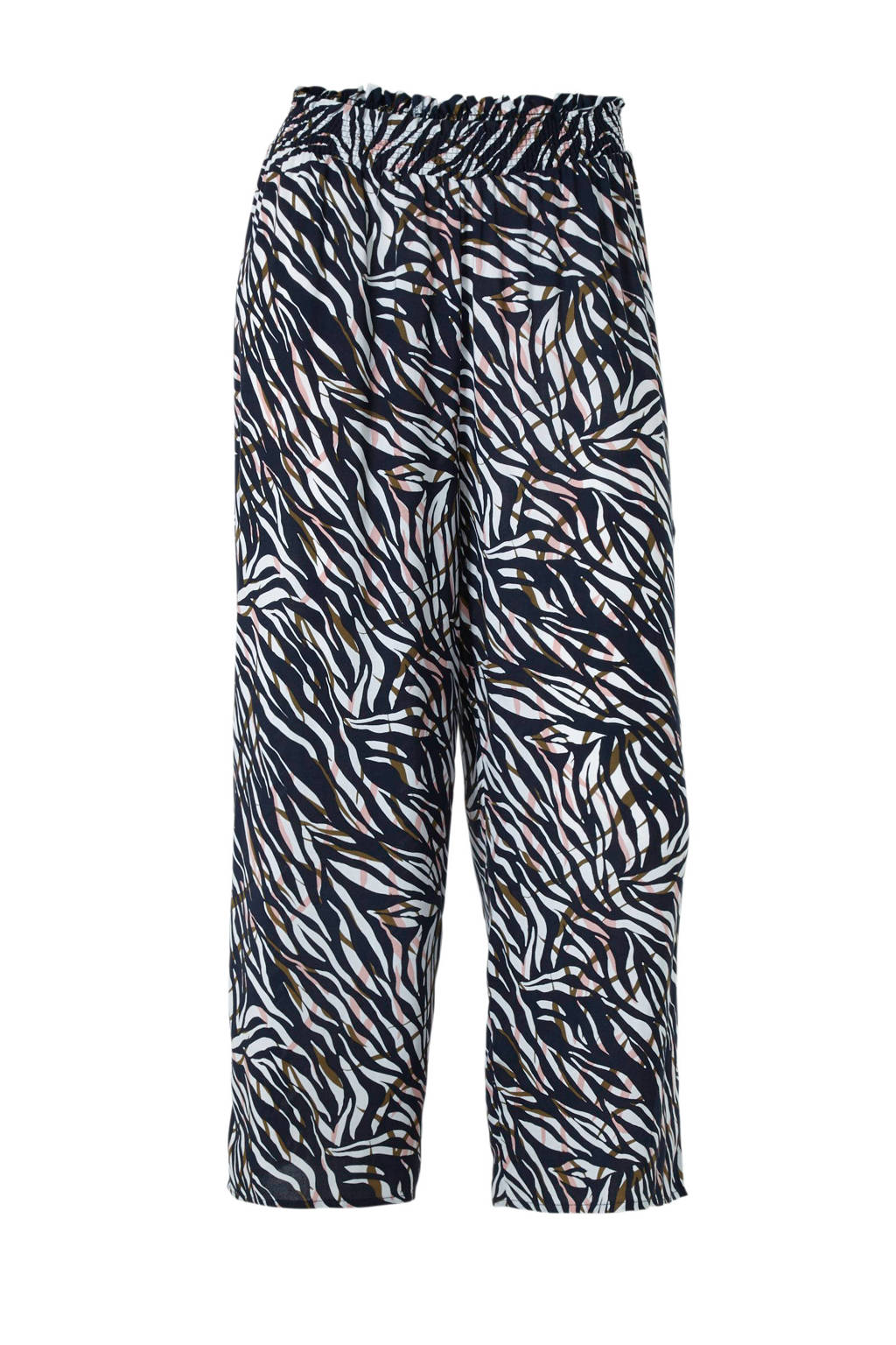 C&A Yessica high waist culotte met all over print donkerblauw, Donkerblauw