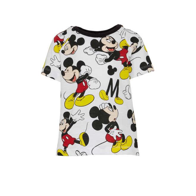 e4ebc10476c36e Disney @ C&A Mickey Mouse T-shirt met all over print wit/zwart/