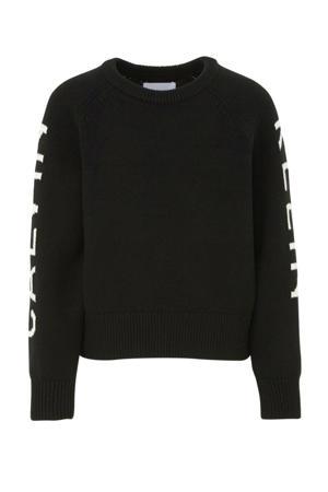 trui met tekst zwart