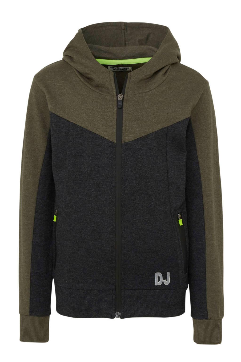 DJ Dutchjeans vest army groen/zwart mêlee, Army groen/zwart mêlee