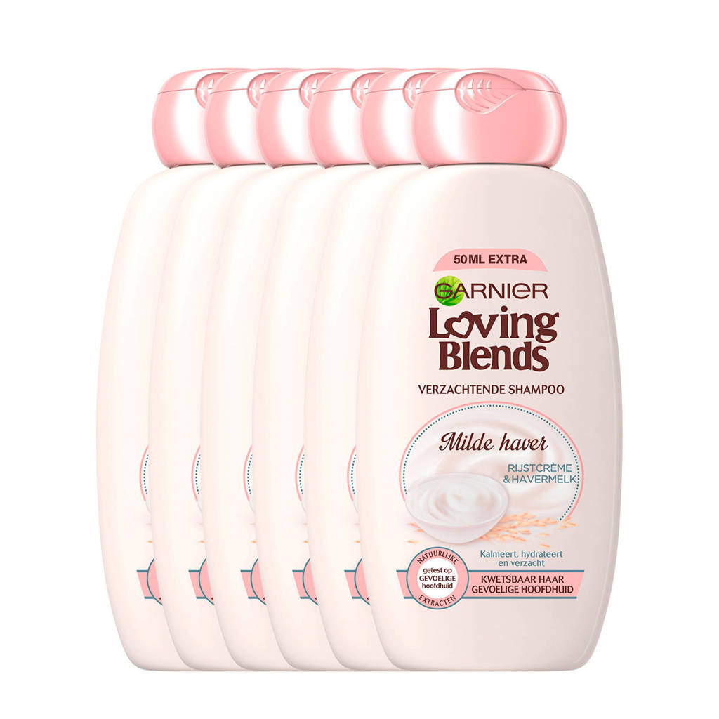 Garnier Loving Blends Milde Haver shampoo - 6x 300ml multiverpakking