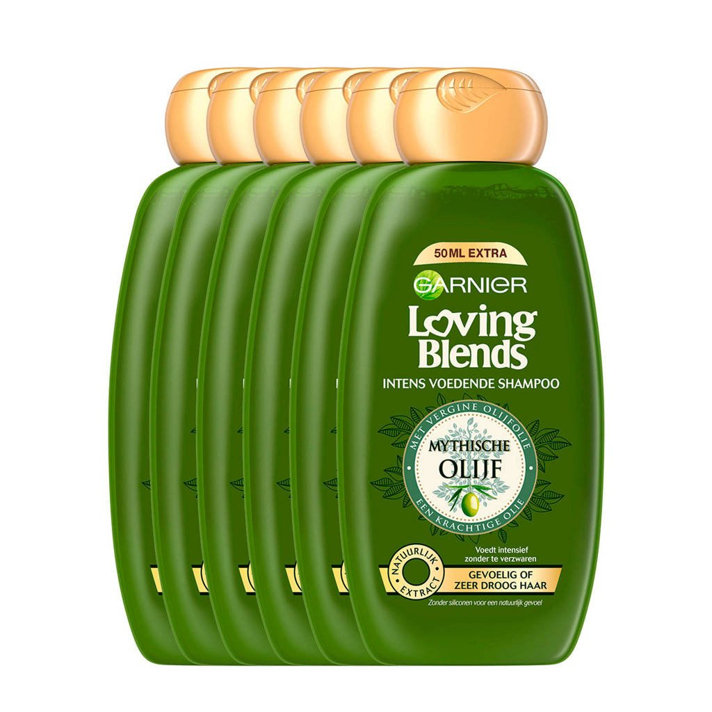 Garnier Loving Blends Mythische Olijf shampoo - 6x 300ml multiverpakking